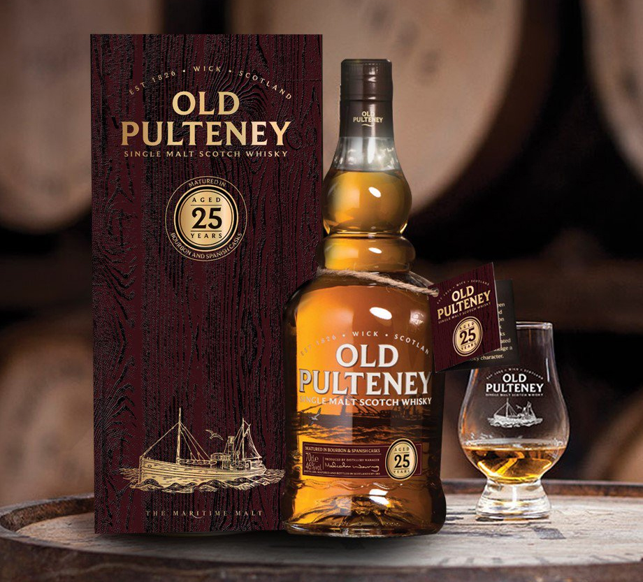 Old Pulteney Single Malt Scotch Whisky 25 Years Old